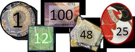 Custom Number Stamp Samples