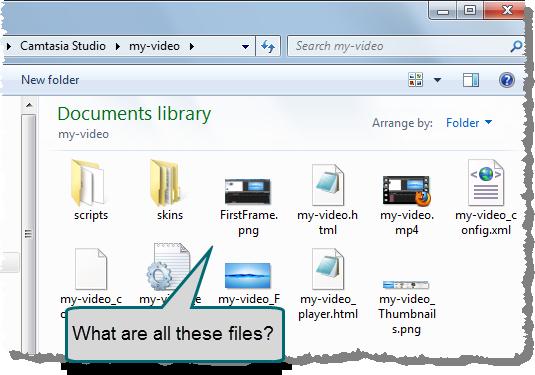 windows explorer showing files