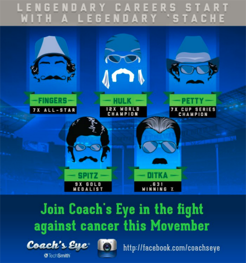 End November with a stache!
