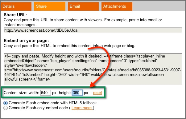 An Easy Way to Scale Embedded Video on Screencast.com