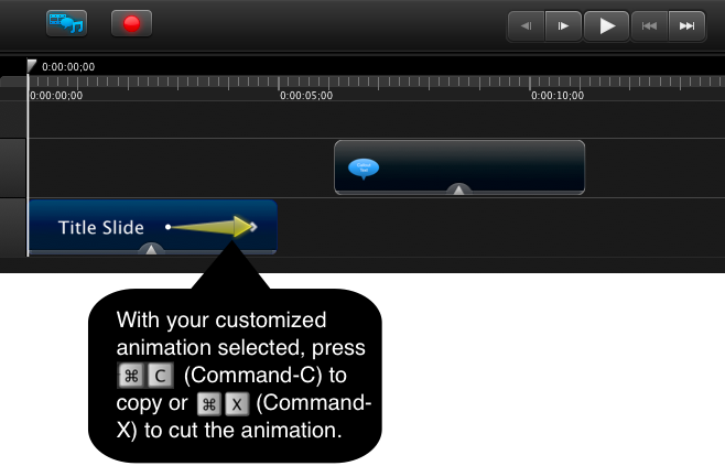 Copy or cut the animation