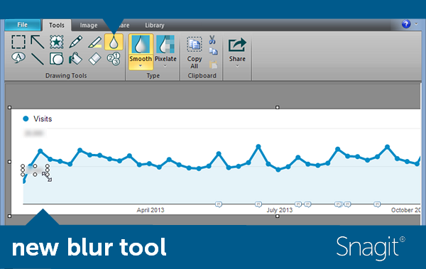 Improved blur tool in Snagit for Windows