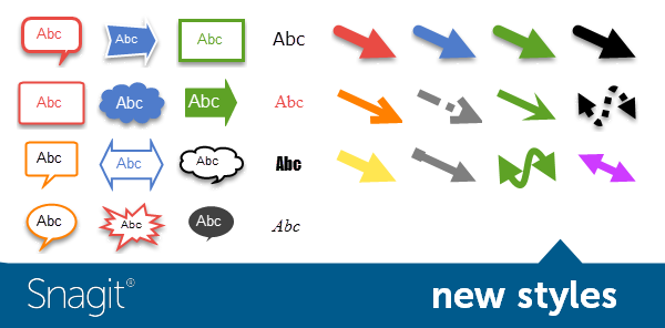 New styles in Snagit 11.4 for Windows