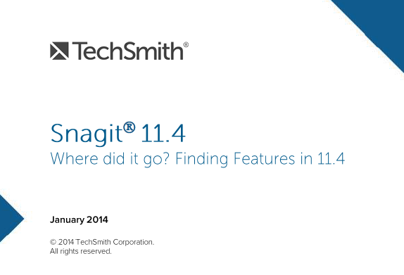Guide to interface changes in Snagit 11.4