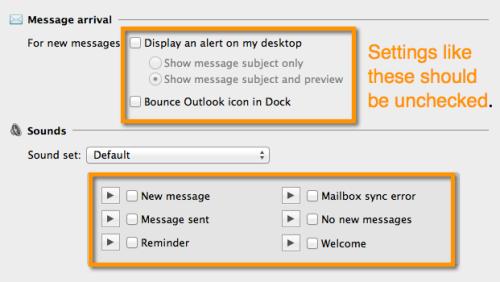 Turn off desktop notifications