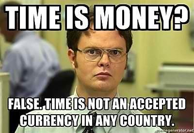 Visuelle Kommunikation - Dwight Schrute Zeit ist nicht Geld - Zeit ist keine Währung