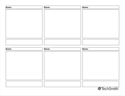 3 by 2 downloadable storyboard template