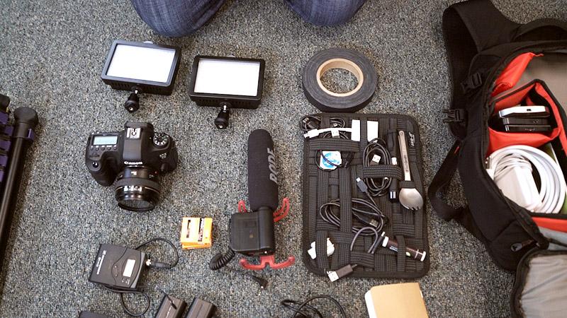 Videoausrüstung Vorbereitung Videoerstellung
