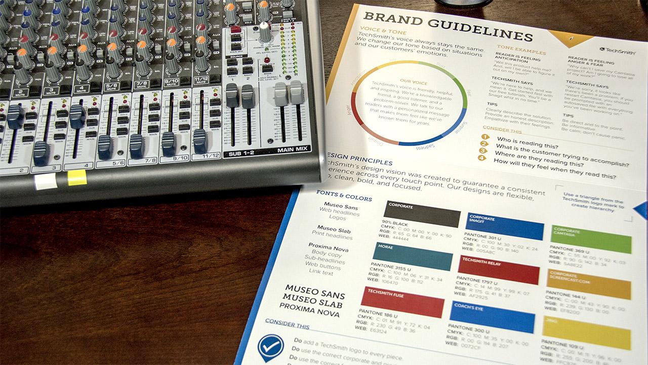 Brand Guidelines und Firmenfarben