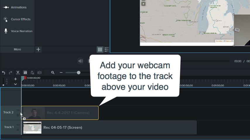 Adding Webcam Videos