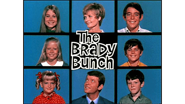 Brady Bunch Split Screen Image