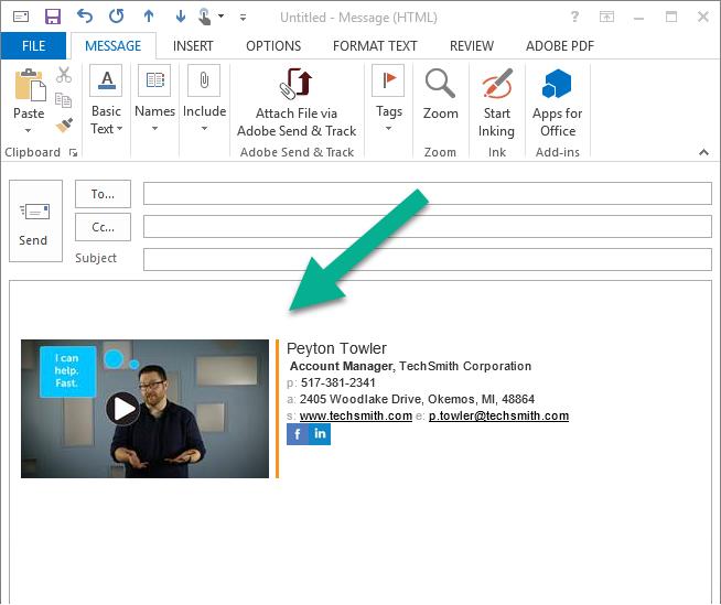 Videos Als Teil Ihrer Signatur In E Mails Techsmith Blog