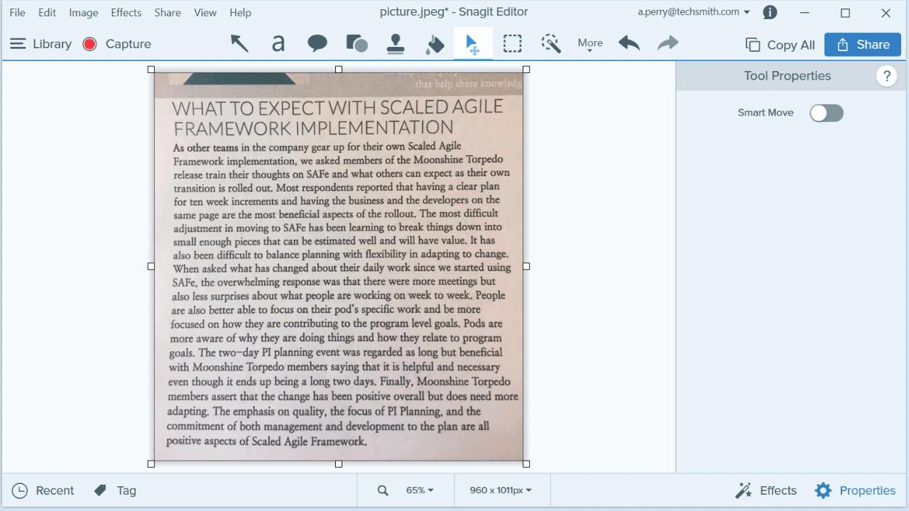 Text extrahieren - Schritt 1