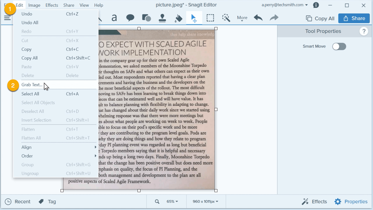 extract text from image step 2