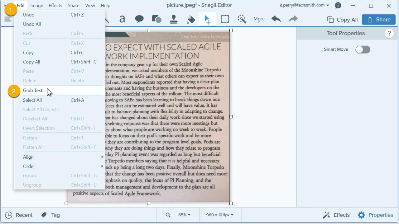 Text aus Bild extrahieren - Schritt 2