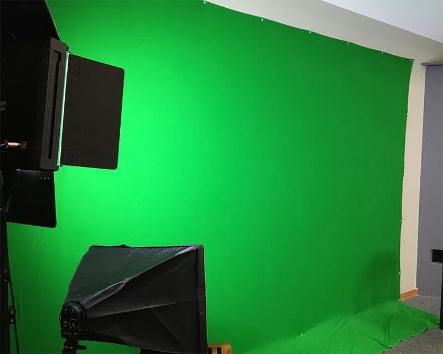 DIY green screen for a DIY recording studio