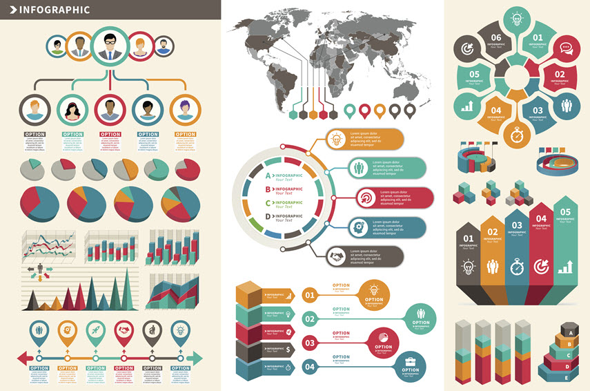 examples of elements for infographics