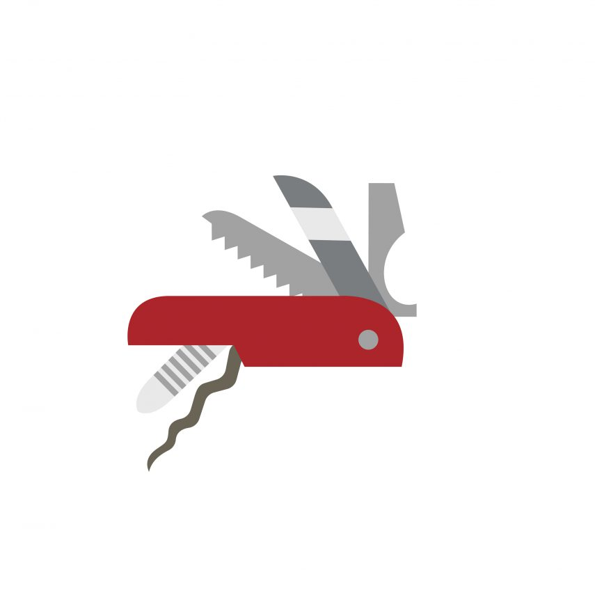 Swiss army knife icon to represent MacGyver