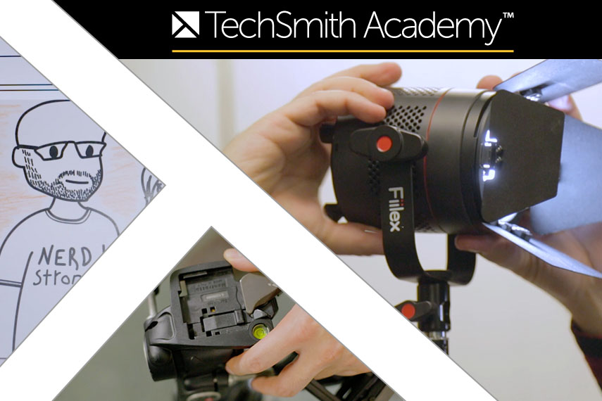 thumbnails from TechSmith Academy content