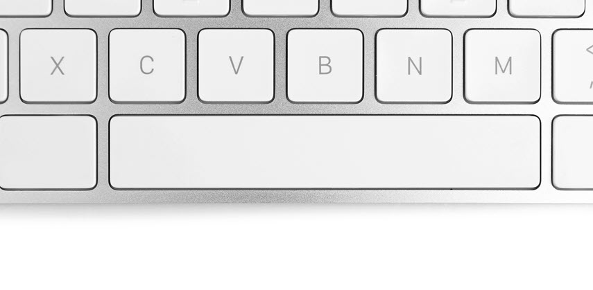 space bar on a keyboard
