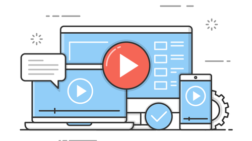 illustration representing online learning content
