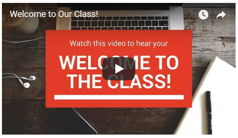 welcome video for quality online courses