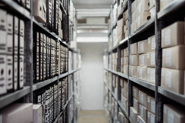 Room full of archived documents
