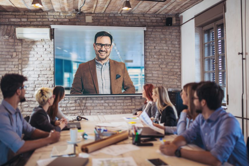 communicating in the workplace via video