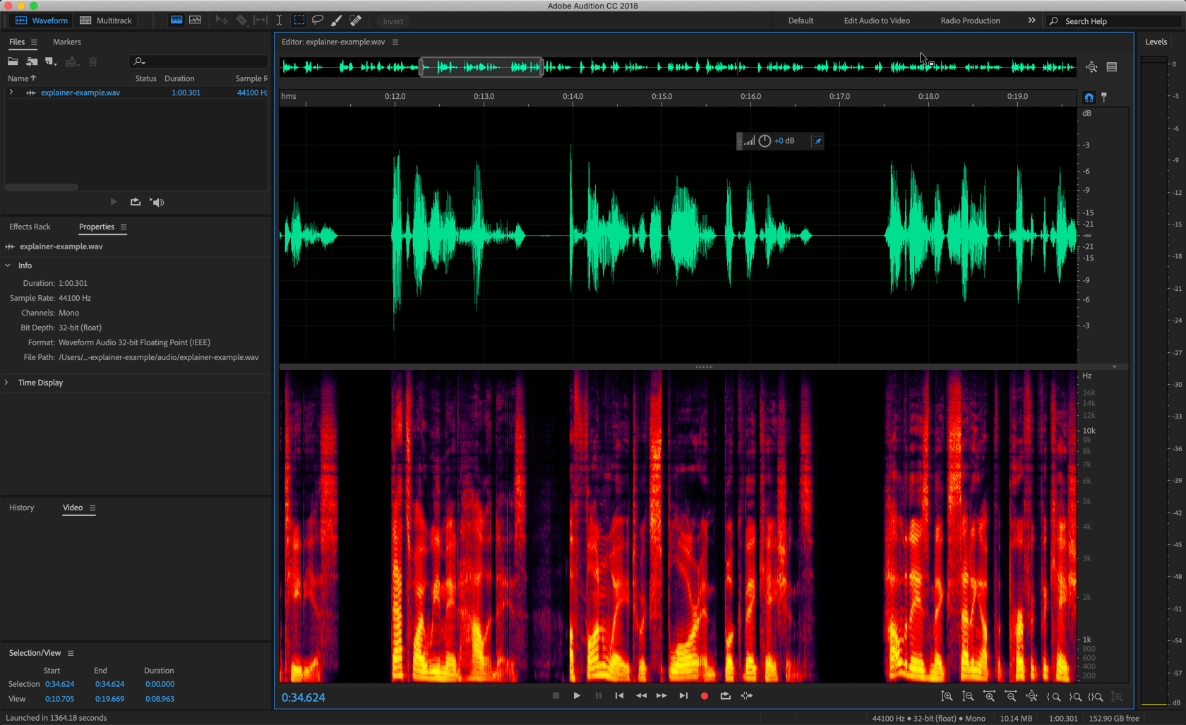 editing audio for animated explainer video