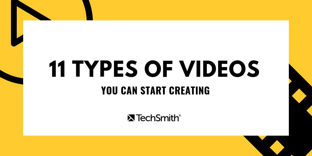 11 types of videos intro