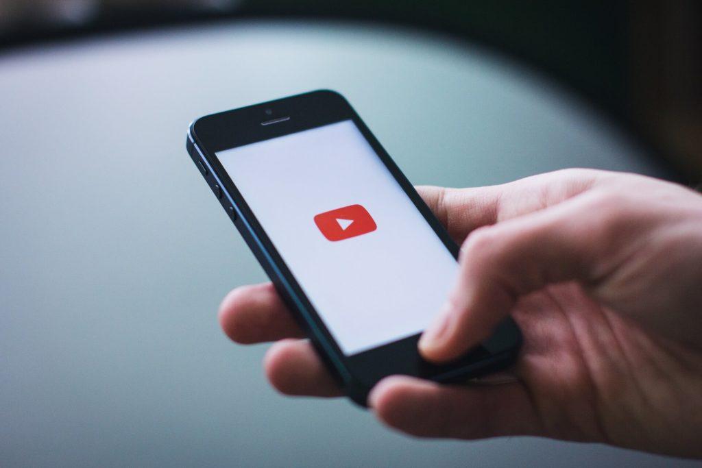 youtube logo on an iphone