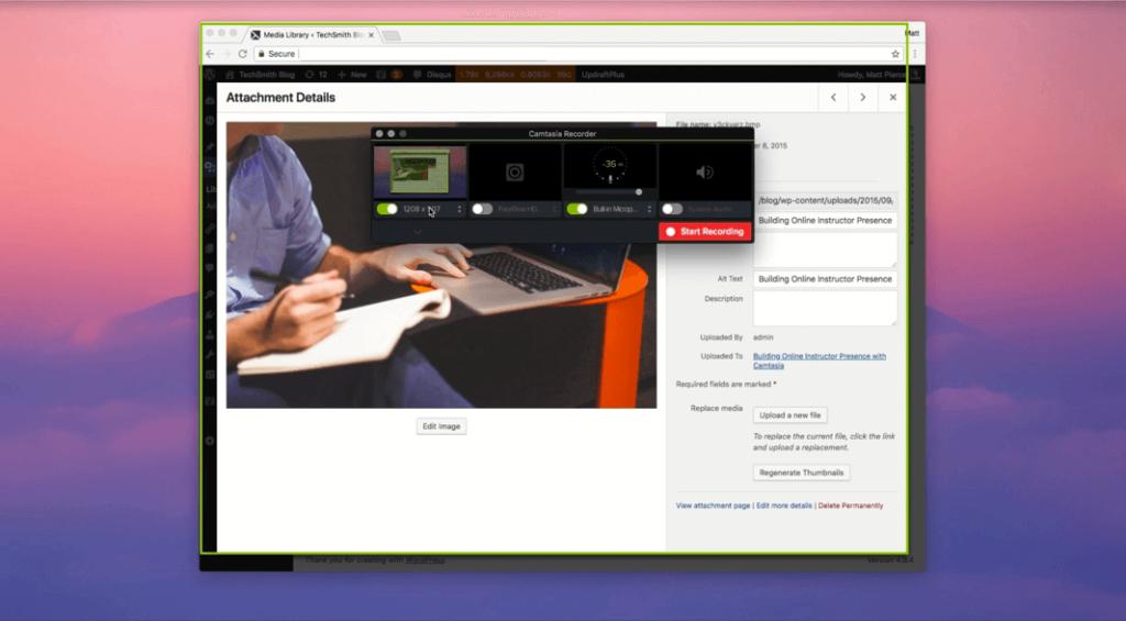 clean desktop recording camtasia screen