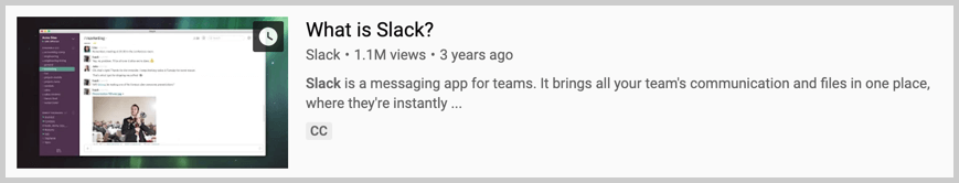 youtube video example what is slack