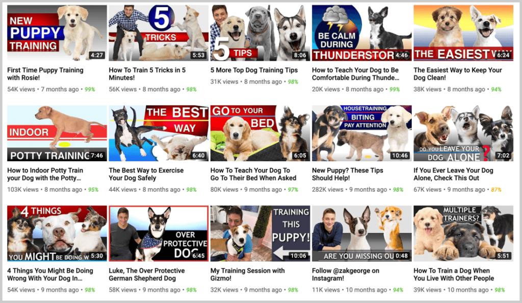 youtube video list