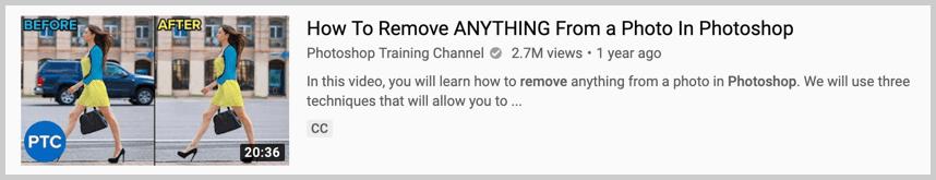 youtube topic example photoshop