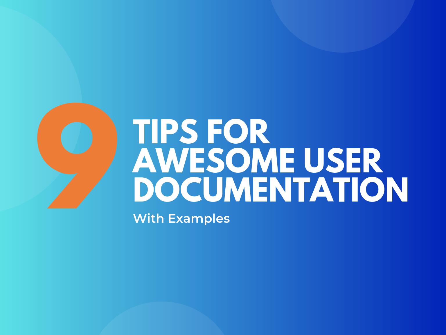 awesome user documentation hero