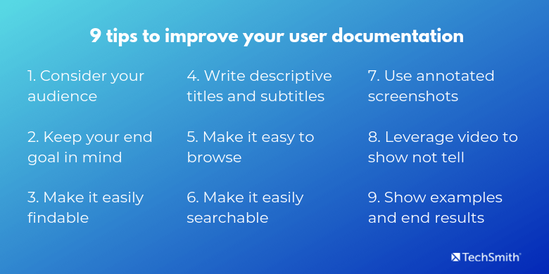 awesome user documentation tips list
