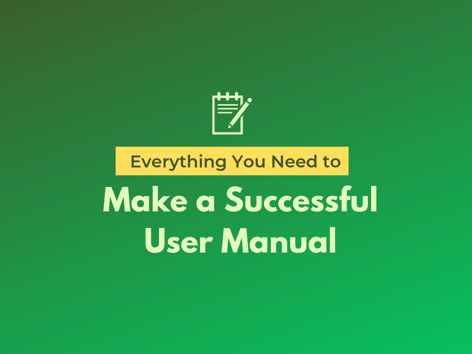 user manual hero image