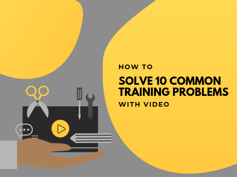 how to solve training problems with video