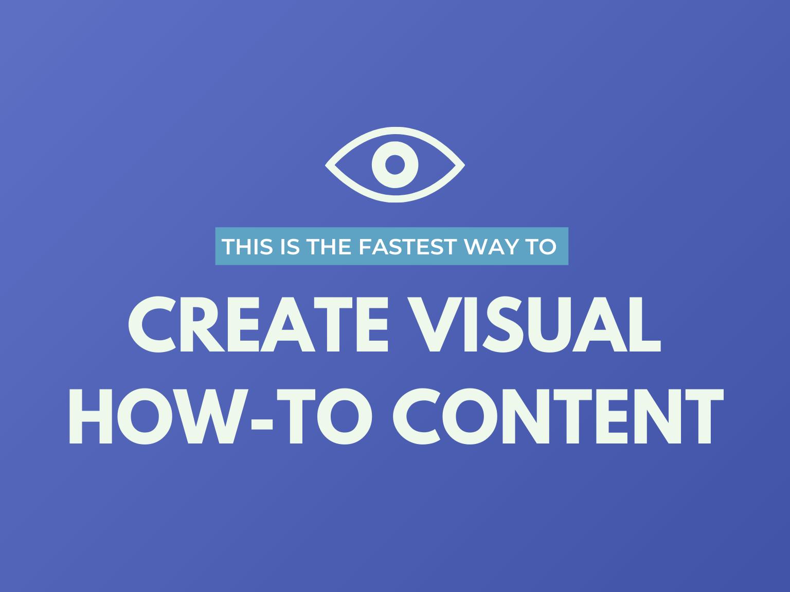 create visual how to content hero