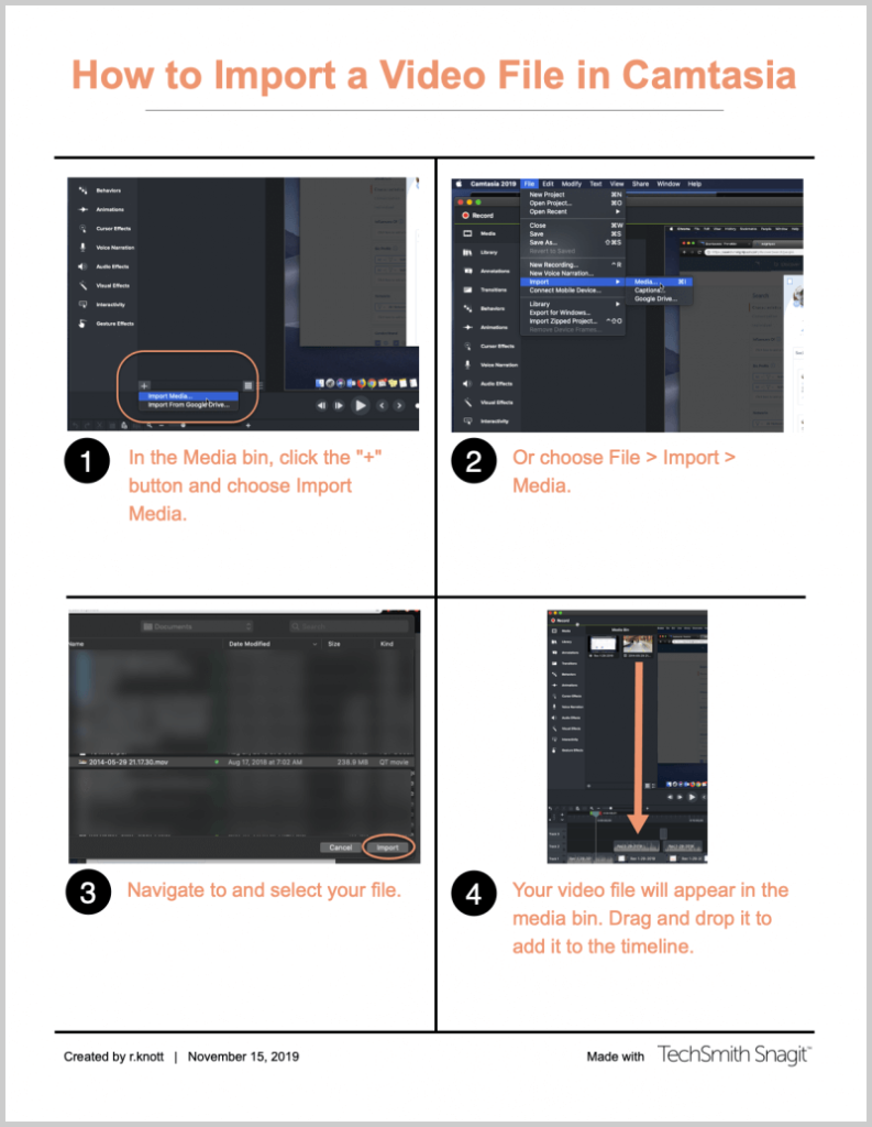 snagit template how to content example