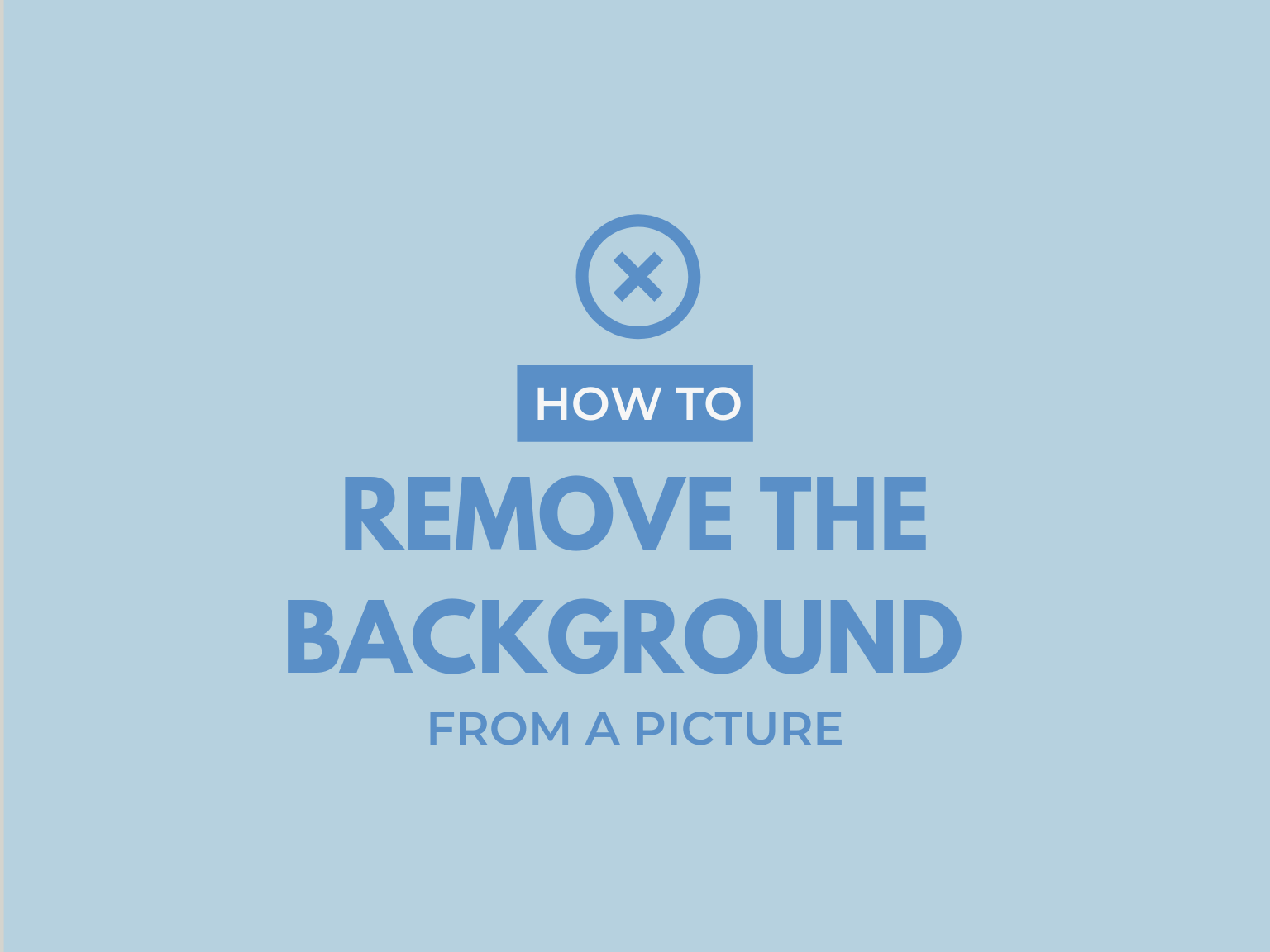remove the background from an image