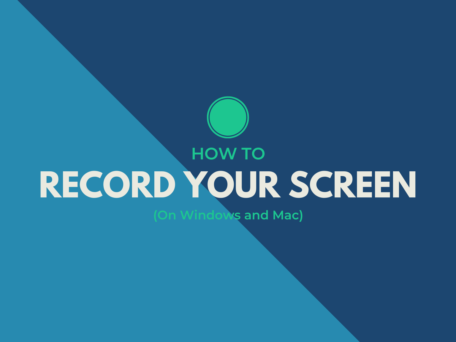 how to record your screen hero