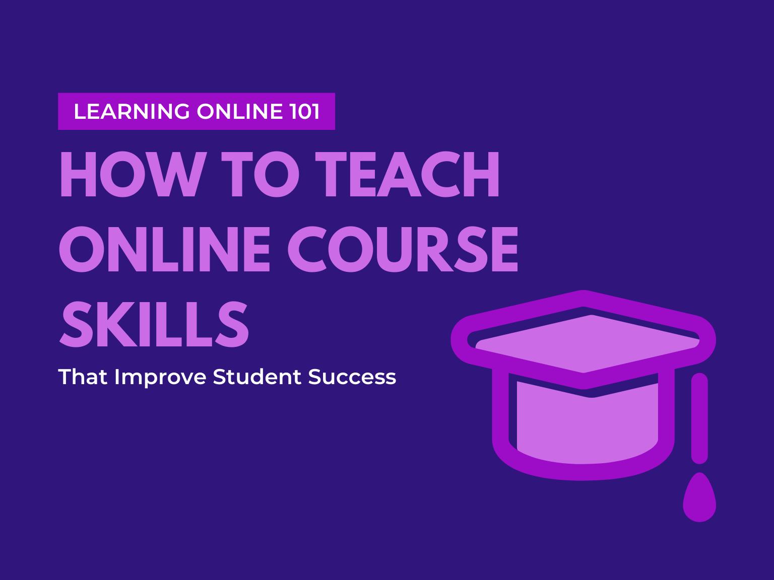 teach online course skills