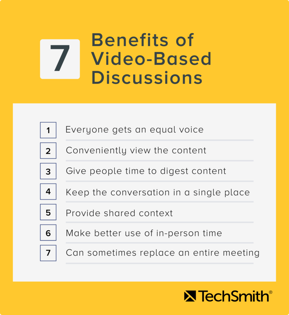 7 benefits of video-based discussions