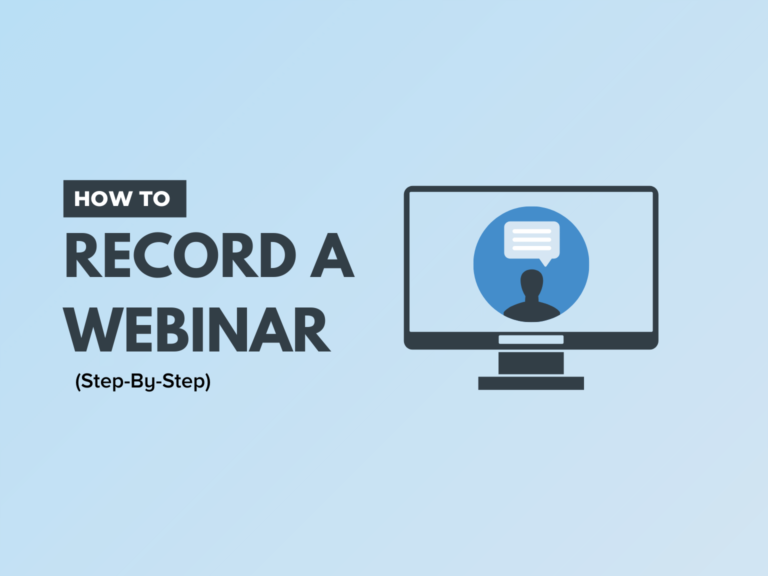 how to record webinar
