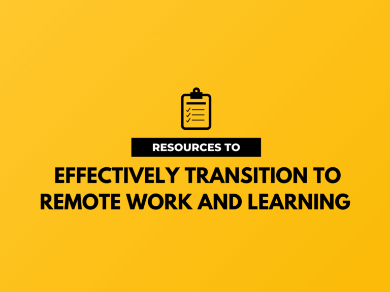 remote work and learning hero image