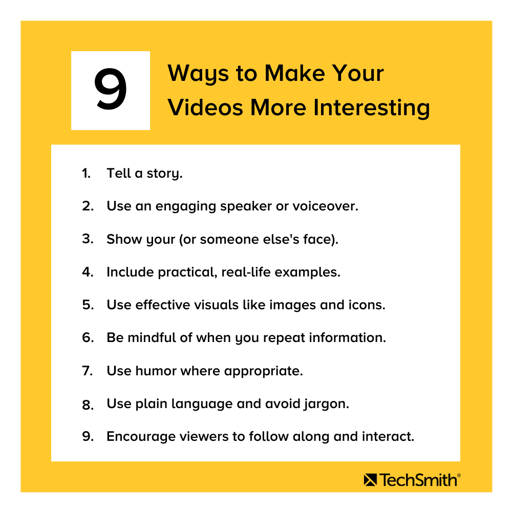 9 ways to make your videos more interesting