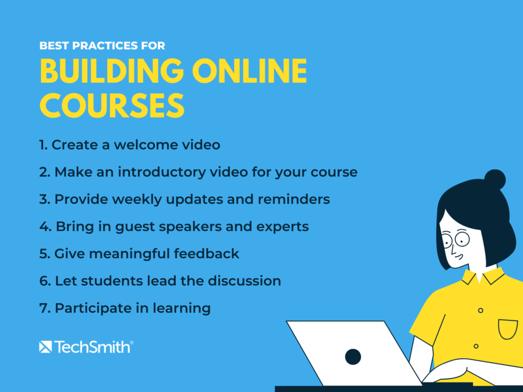 best practices for building online courses for distance learning