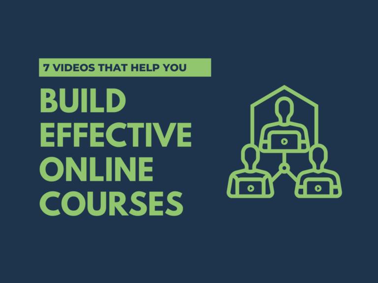 Différents types de vidéo peuvent vous aider à optimiser vos cours en ligne.